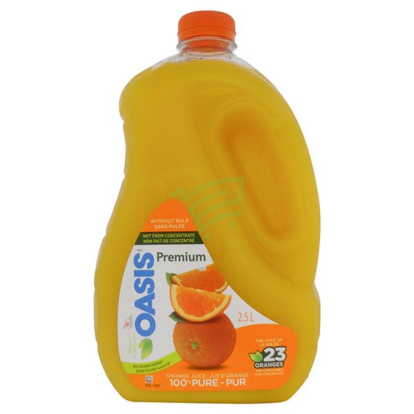 Indian grocery online - Oasis Orange Juice No Pulp 2.5L - Cartly
