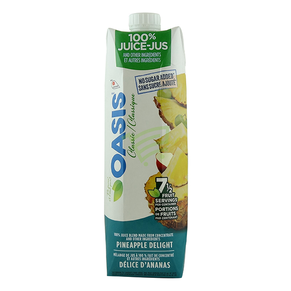 Indian grocery online - Oasis Pineapple Delight 960ml - Cartly