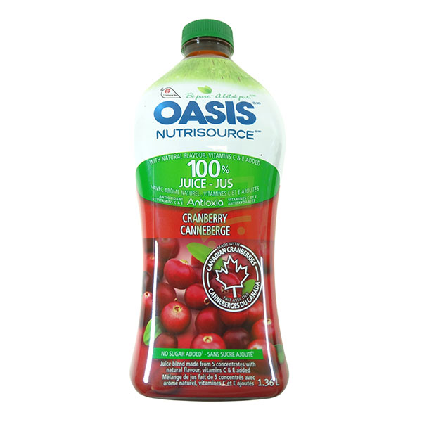 Indian grocery online - Oasis Cranberry 1.36L - Cartly