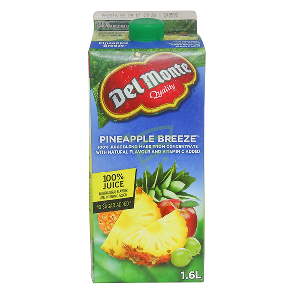 Indian grocery online - Delmonte Pineapple Breeze Juice 1.6L - Cartly