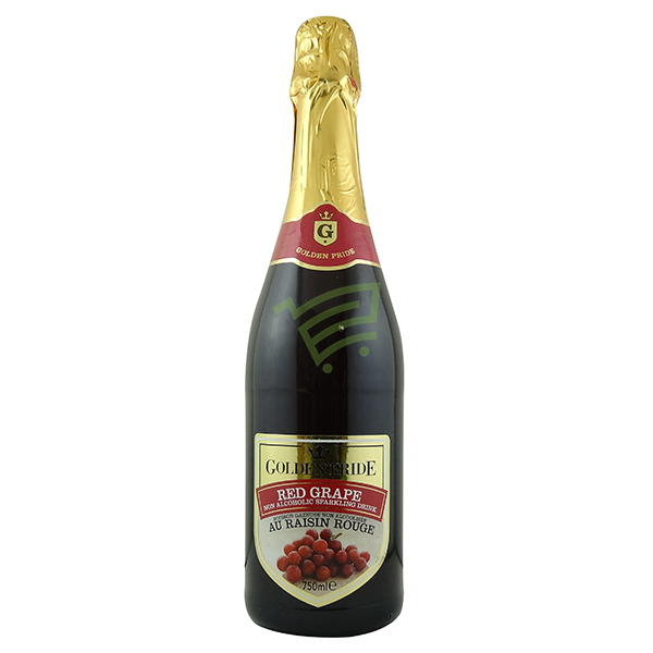 Indian grocery online - Goldenpride Red Grape Sparkling Drink 750ml - Cartly
