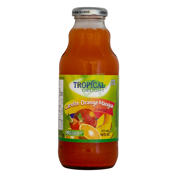 Indian grocery online - Tropical Orange Carrot Mango Juice 473Ml - Cartly