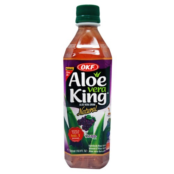 Indian grocery online - OKF Aloe Vera King Grape 500ml - Cartly