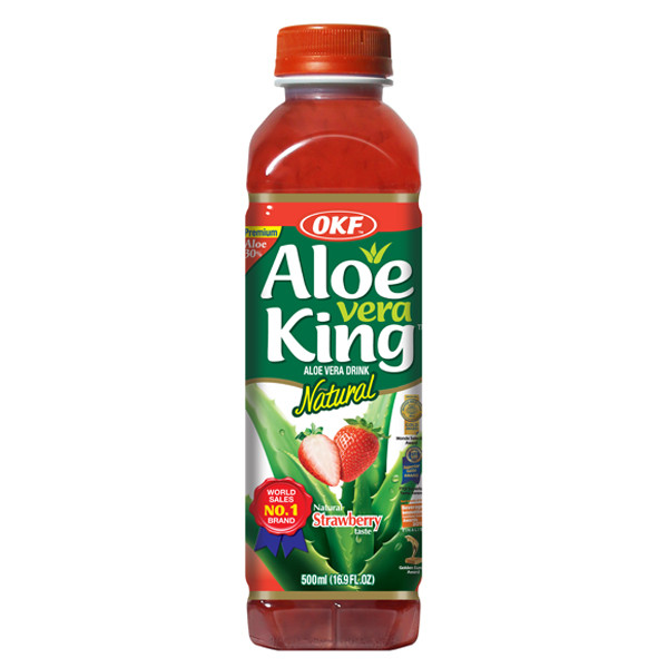 Indian grocery online - OKF Aloe Vera King Strawberry 500ml - Cartly