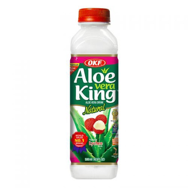 Indian grocery online - OKF Aloe Vera King Lychee 500ml - Cartly