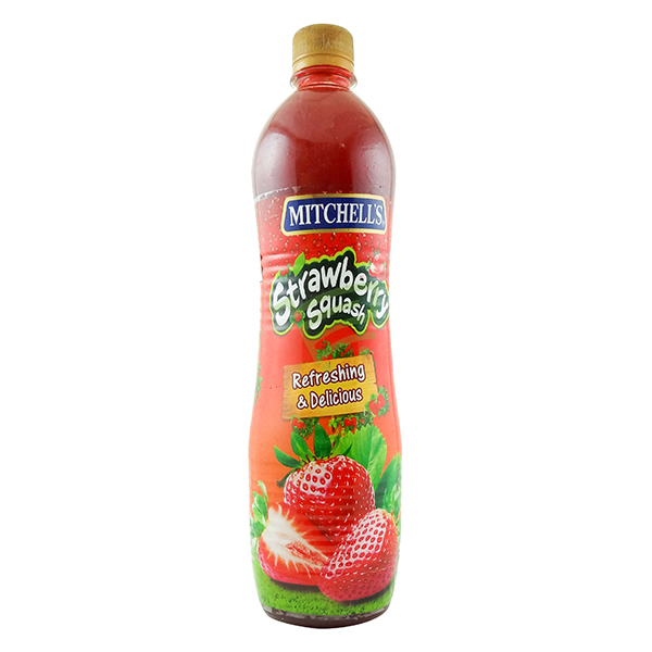 Indian grocery online - Mitchell's Strawberry Squash 800ML - Cartly