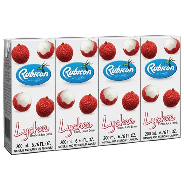 Indian grocery online - Rubicon Litchi 4 pack/ 200ml - Cartly
