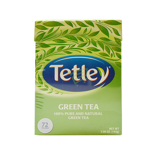 Indian grocery online - Tetley Green Tea 72 Bags / 144G - Cartly