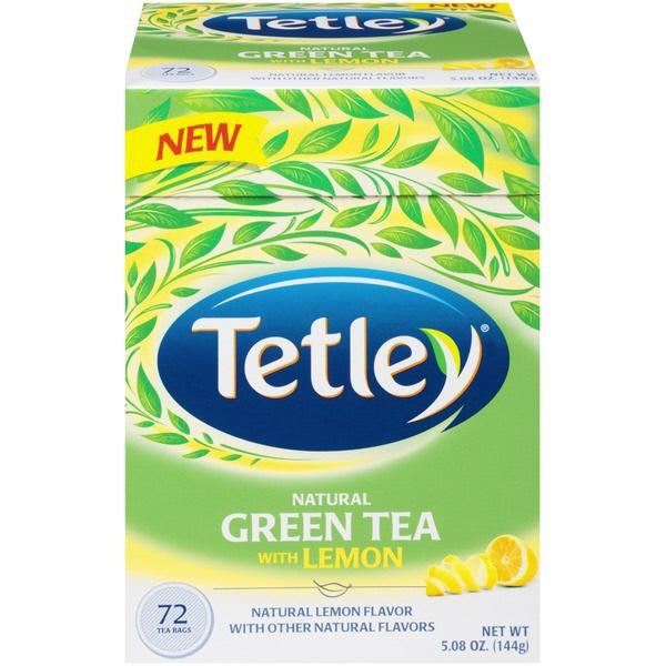 Indian grocery online - Tetley Green Tea Lemon72bag - Cartly