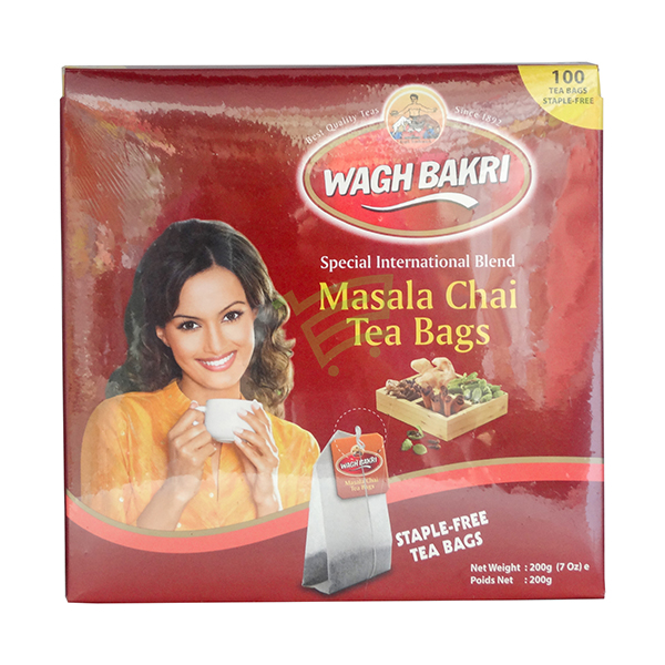Indian grocery online - Wagh Bakri Masala Chai 100 Tea Bags - Cartly