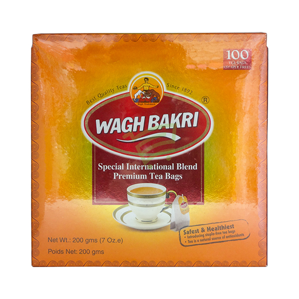 Indian grocery online - Wagh Bakri Premium Chai 100 Tea Bags - Cartly