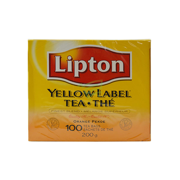 Indian grocery online - Lipton Yellow Label Tea 100 Bags / 200G - Cartly