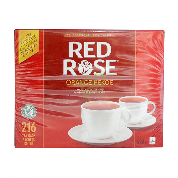 Indian grocery online - Red Rose Tea Orange 216 Bags - Cartly