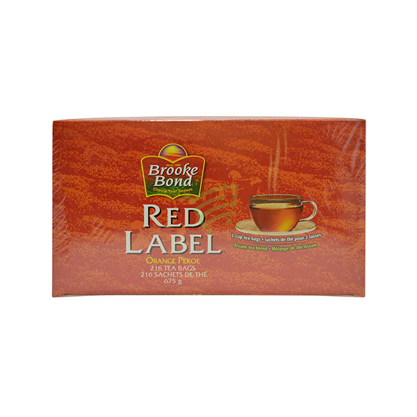Indian grocery online - Brooke Bond Red Label Tea 216 Bags/675g - Cartly