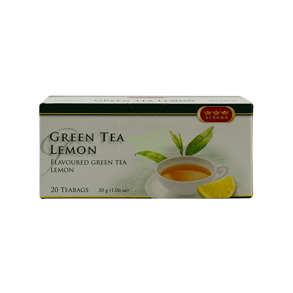 Indian grocery online - Green Tea Lemon 20 Bags/30G - Cartly
