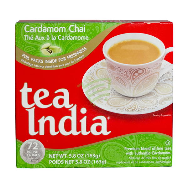 Indian grocery online - Tea India Cardmom Chai Mix 72 Bags - Cartly