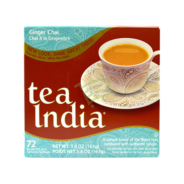 Indian grocery online - Tea India Ginger Chai. 72Pk - Cartly