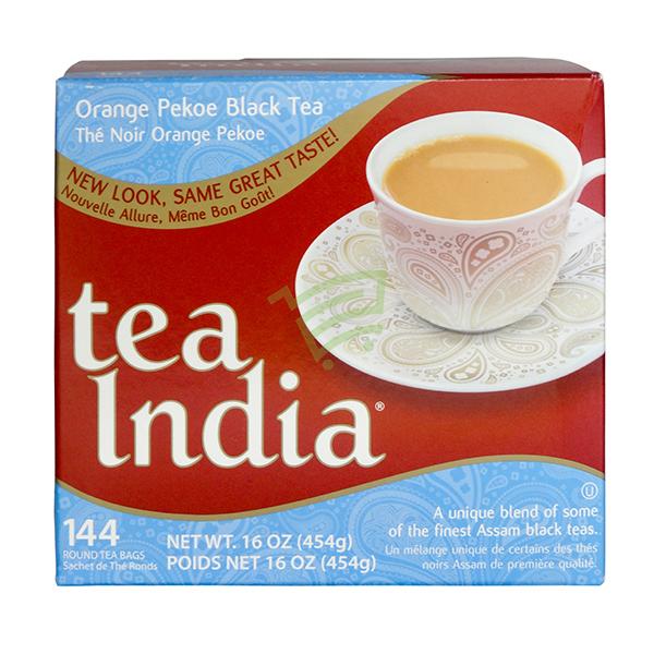 Indian grocery online - Tea India Orange Pekoe Black Tea 144 Tea Bags - Cartly