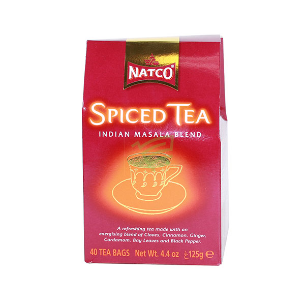 Indian grocery online - Natco Spiced Tea 40 Bags/125G - Cartly