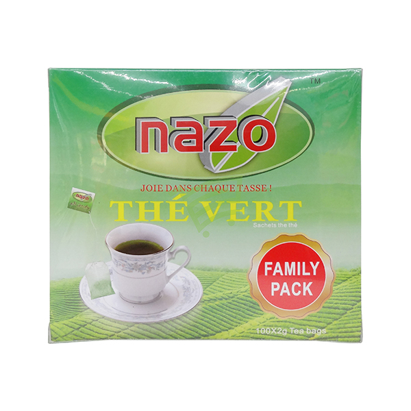 Indian grocery online - Nazo Green Tea Bag 100x2G  - Cartly