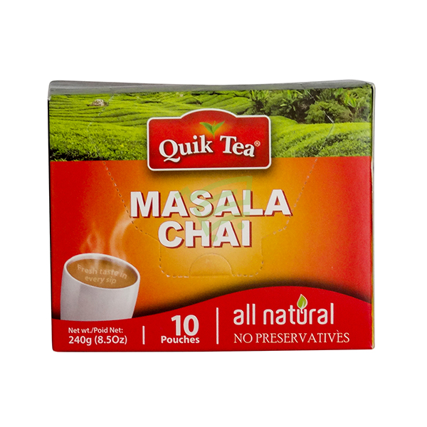 Indian grocery online - Quick Masala Chai 10 Pouches - Cartly