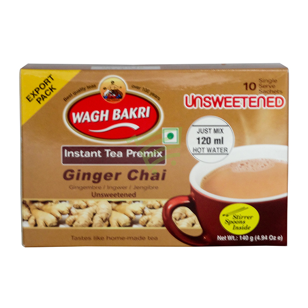 Indian grocery online - Wagh Bakri Unsweetend Ginger Tea 10 Bags - Cartly