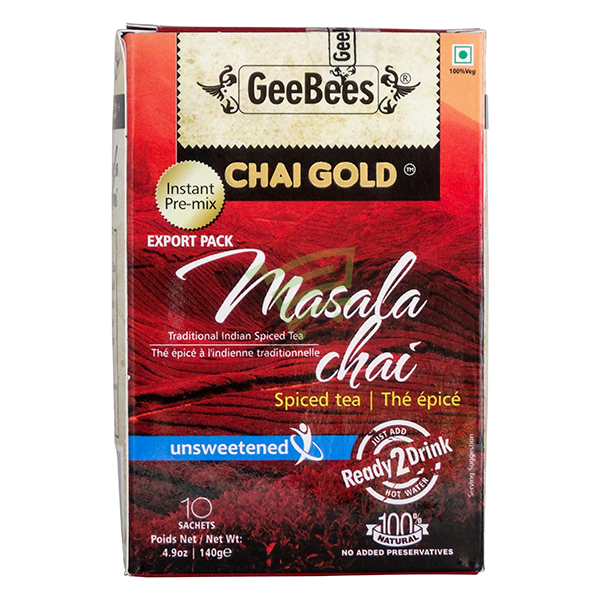Indian grocery online - Chai Gold Masala Tea Unsweet 140G - Cartly