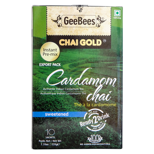 Indian grocery online - Chai Gold Cardamom Tea 220G - Cartly