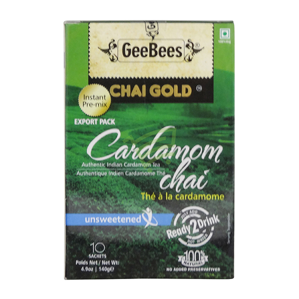 Indian grocery online - GeeBees Cardamom Unsweetened Tea 10 Bags - Cartly