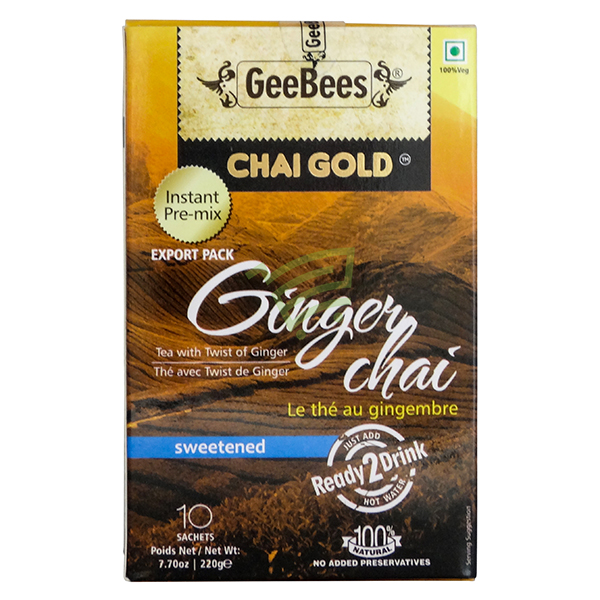 Indian grocery online - Chai Gold Ginger Tea 220G - Cartly