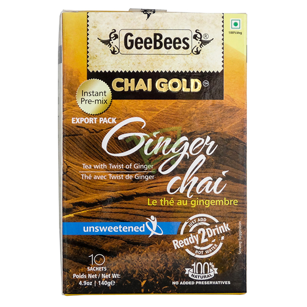 Indian grocery online - Chai Gold Ginger Tea Unsweetend 140G - Cartly
