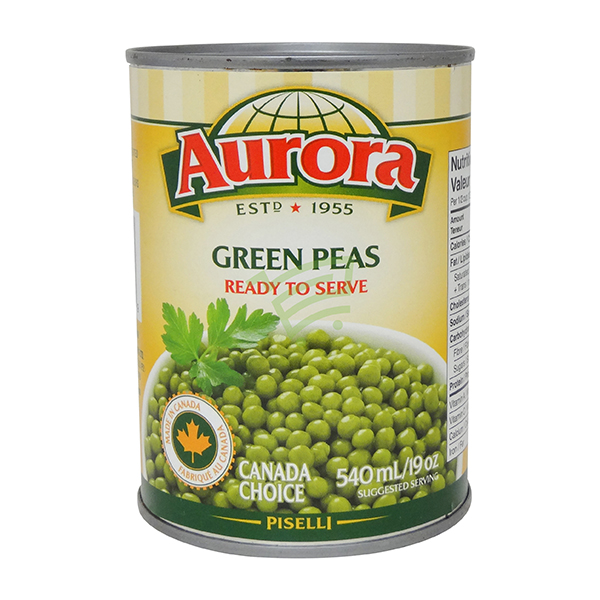 Indian grocery online - Aurora Green Peas 540Ml - Cartly