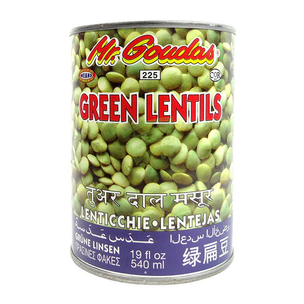 Indian grocery online - Mr.Goudas Green Lentils 540Ml - Cartly