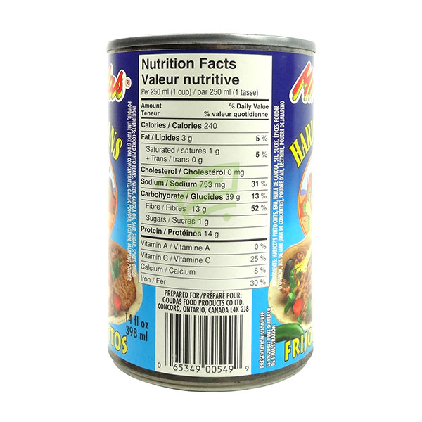 Indian grocery online - Mr.Goudas Refried Beans 398Ml - Cartly