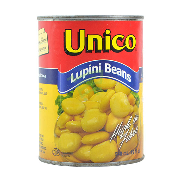 Indian grocery online - Unico Lupini Beans 540Ml - Cartly