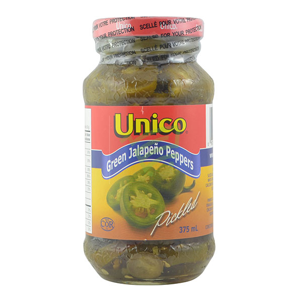 Indian grocery online - Unico Green Jalapeno Peppers 375Ml - Cartly