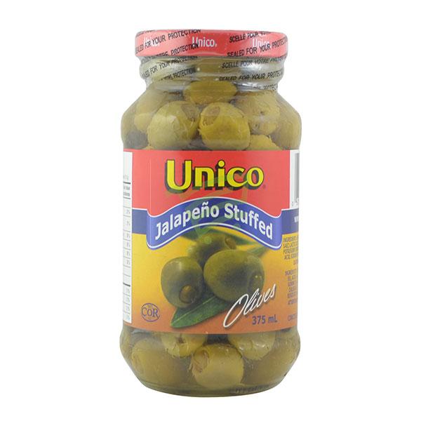 Indian grocery online - Unico Jalapeno Stuffed Olives 375Ml - Cartly