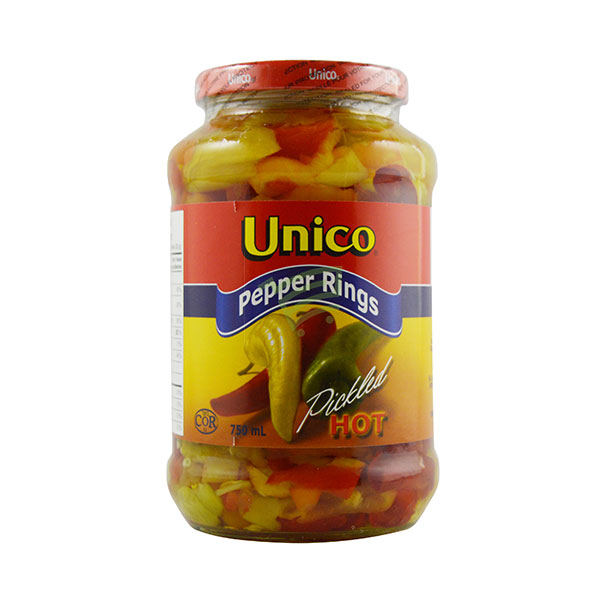 Indian grocery online - Unico Hot Pepper Rings 750Ml - Cartly