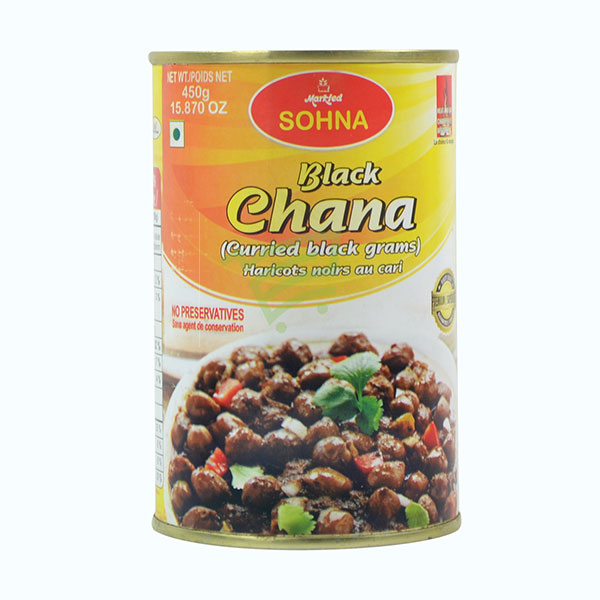 Indian grocery online - Sohna Kala Chana Can 450G - Cartly