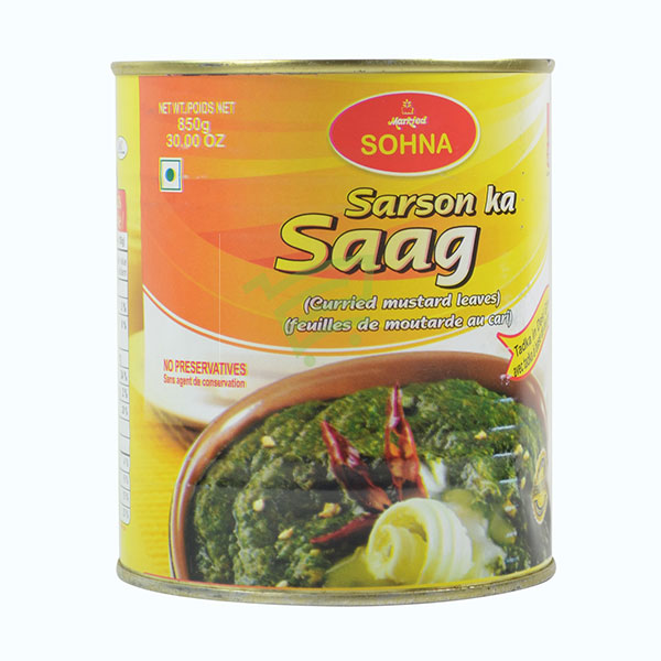 Indian grocery online - Sohna Sarson ka Saag 850G - Cartly