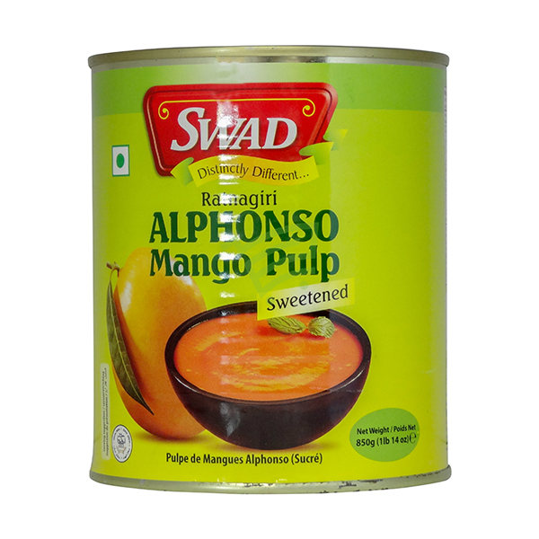 Indian grocery online - Swad Alphansoe Mango Pulp 850G - Cartly