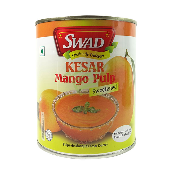 Indian grocery online - Swad Kesar Mango Pulp 850G - Cartly