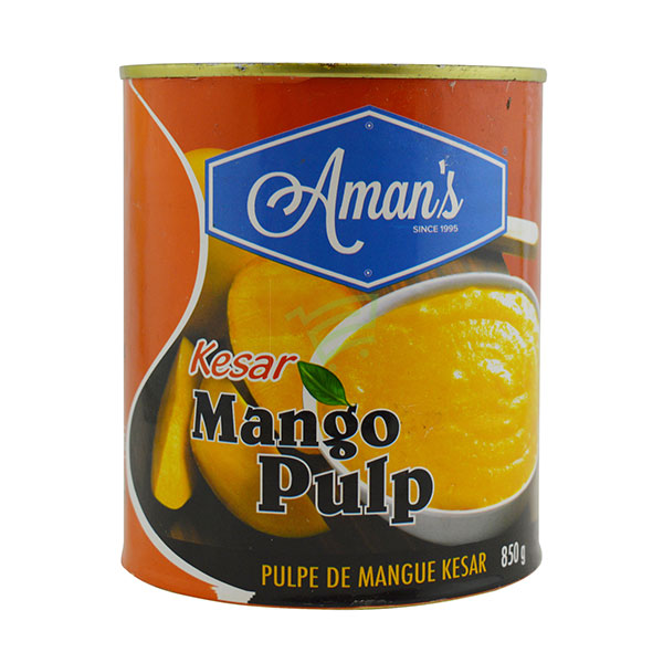Indian grocery online - Aman's Kesar Mango Pulp 850G - Cartly