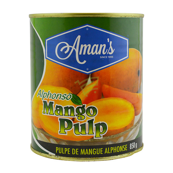 Indian grocery online - Aman's Alphonso Mango Pulp 850G - Cartly