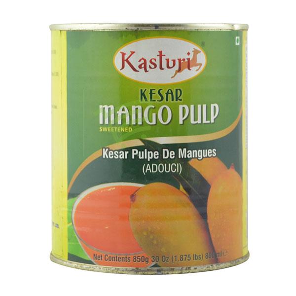 Indian grocery online - Kasturi Kesar Mango Pulp 850G - Cartly