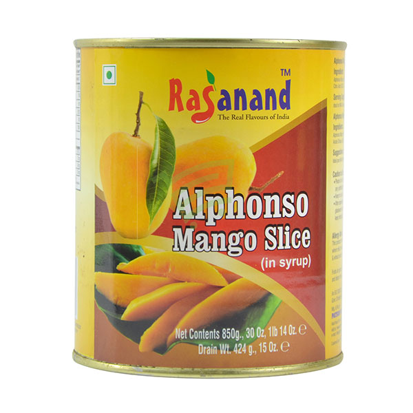 Indian grocery online - Rasananad Alphonso Mango Slice 850G - Cartly
