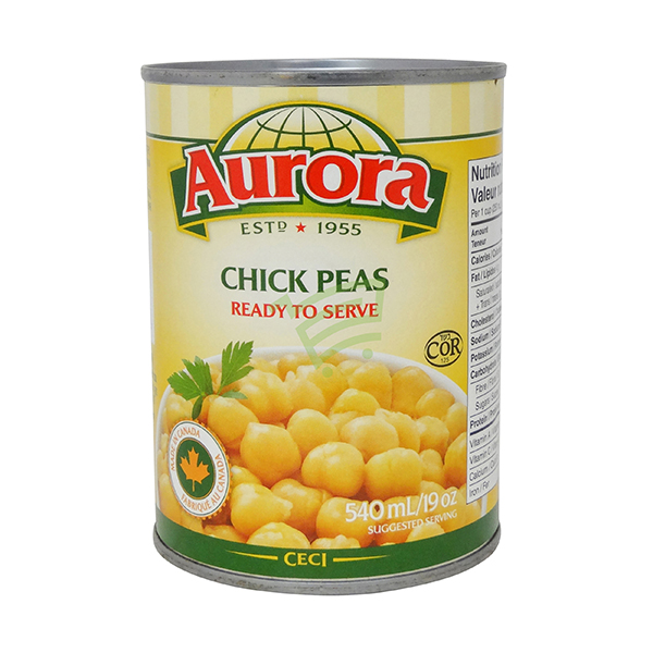 Indian grocery online - Aurora Chick Peas 540Ml - Cartly