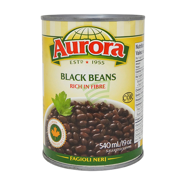 Indian grocery online - Aurora Black Beans 540Ml - Cartly