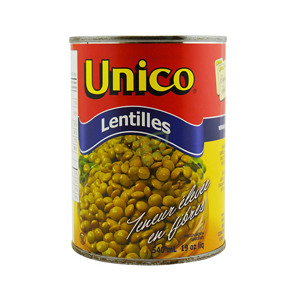 Indian grocery online - Unico Lentilles 540Ml - Cartly