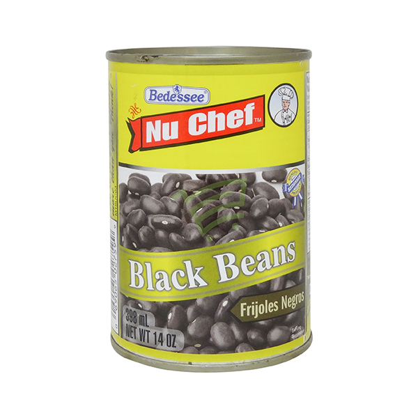 Indian grocery online - Nu Chef Black Beans 398Ml - Cartly